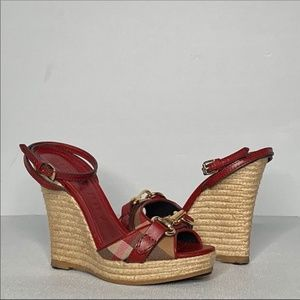Burberry House Check Espadrille Wedges